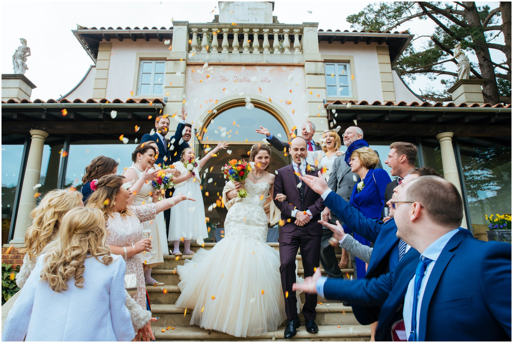 Italian Villa Poole wedding