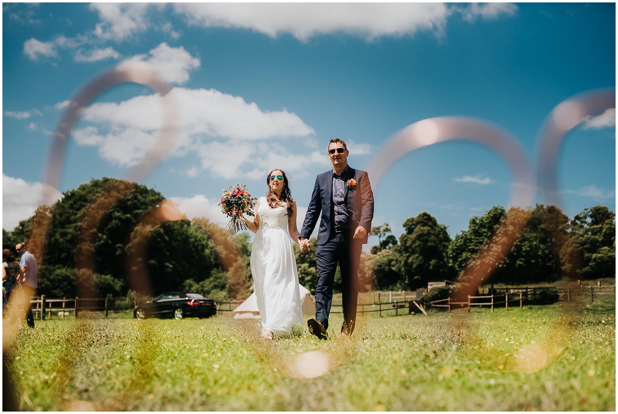 Hampshire festival wedding photography
