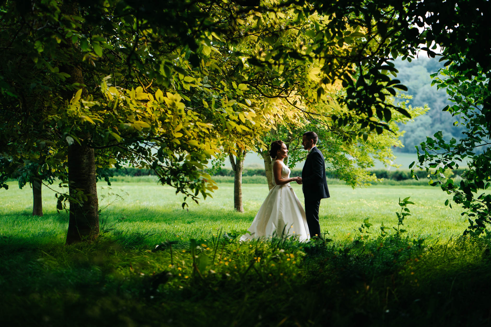 Hampshire wedding photography at tithe barn on a sunny day