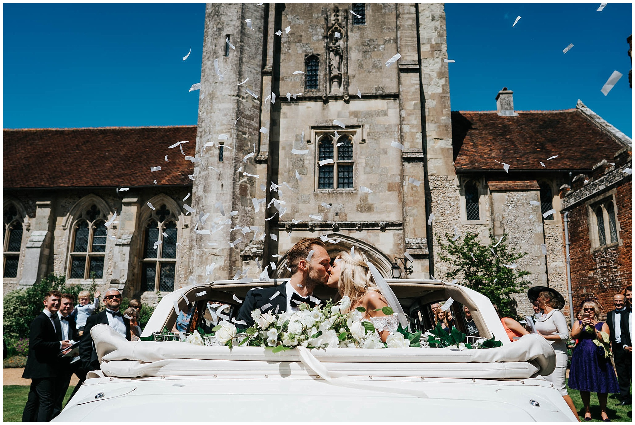 Hospital of St Cross church Winchester wedding